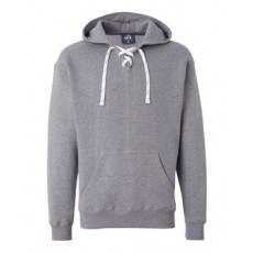 Lace-Up Hooded Sweatshirt