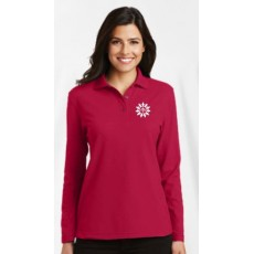 Ladies Long Sleeve Polo (Cotton/Poly)