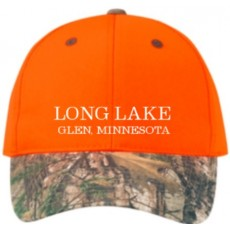 Structured Orange Camo Cap