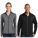 Sport-Wick Stretch Contrast Full-Zip Jacket