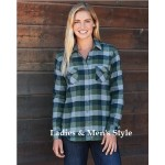 Ladies & Men's Vintage Flannel Shirt