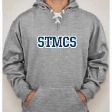 Middle Level Grey Hooded Sweatshirt